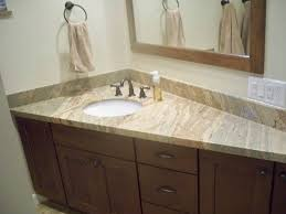 Single Sink Bathroom Vanity With Granite Top by Triangle Broken White Marble Counter Top With Single Sink Placed