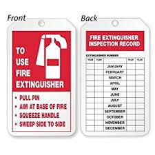 21 Images Of Fire Extinguisher Monthly Inspection Tag Template