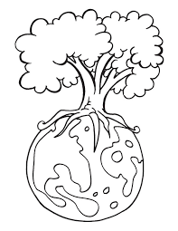 Protect Environment Is The Message Of The Earth Day Coloring Page
