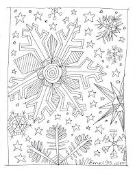 Free Adult Coloring Page Snowflakes 001