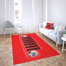 jeep roter vorleger hoher qualitt wohnzimmer teppich