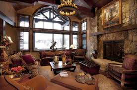 Fantastic Rustic Living Room Furniture Ideas With Fireplace And Middle Age Chandelier