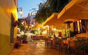 Restaurant On The Streets Of Plaka Athens