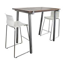 51% OFF - CB2 CB2 High Dining Table And Chairs Set / Tables Kitchen Design Counter Height Ding Room Table Tall High Hightop Table With 4 Leather Chairs Top Hanover Monaco 7piece Alinum Outdoor Set Round Tiletop And Contoured Sling Swivel Chairs High Kitchen Set Replacement Scenic Top Wning Amazing For Sets Marble Square And Glass Small Pub Style Island Home Design Ideas Black Cocktail Low Tables Astonishing Rooms Modern Wood Dark 2