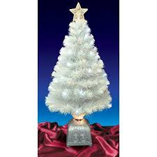 Get Quotations 4 Pre Lit LED Color Changing White Fiber Optic Artificial Christmas Tree