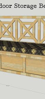 patio storage bench plans ana white beefed up outdoor storage