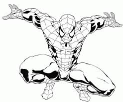 Download Coloring Pages Free Spiderman Page Printable For Kid 4743