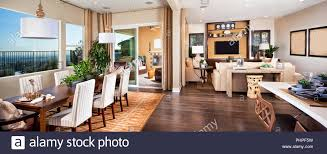 offene wohn esszimmer stockfotografie alamy