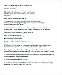 Example Resume Objective Statements 7 Sample Statement Free With