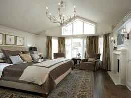 Bedroom Country Bedrooms Ideas Cozy And Comfy Beige Loveseat Black Wooden Four Poster Bed Polished