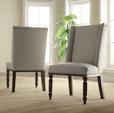Upholstered Dining Chairs With Nailheads by Hostess Chair W Nailhead Trim By Riverside Furniture Wolf And