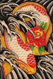 Buy Lifes Journey By Clark North Japanese Koi Fish Pond Tattoo Artwork Art Print In Cheap Price On Alibaba
