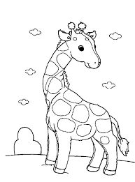 Awesome Design Ideas Cartoon Giraffe Coloring Pages Easy To Make Free Printable Toyolaenergy