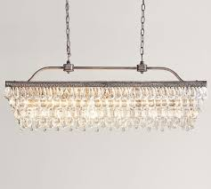 Clarissa Glass Drop Extra-Long Rectangular Chandelier| Pottery Barn Pottery Barn Clarissa Glass Drop Medium 19 Round Crystal Candle Chandelier And Chandeliers Rectangular By Ding Room Marvellous Style Rooms 4132239 Small Antique Best 25 Barn Chandelier Ideas On Pinterest Bronze Earrings Musethollective Extra Long Fniture Design 104 Mesmerizing Extralong