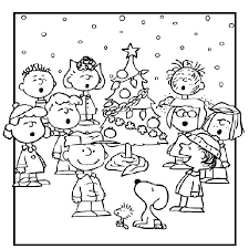 Charlie Brown Christmas Coloring Page