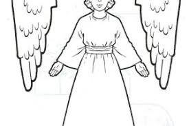 Preschool Angels Coloring Pages