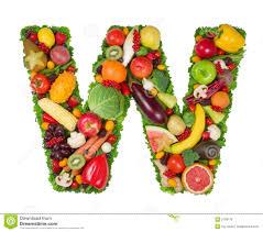 Alphabet of Health W stock photo Image of apricot t