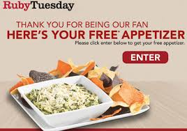 Ruby Tuesday Free Appetizer With Entree Purchase Coupon Via ... 14 Ruby Tuesday Coupons Promo Coupon Codes Updates Southwest Airline Coupon Codes 2018 Distribution Jobs Uber Code Existing Users 2019 Good Buy Romantic Gift For Her Niagara Falls Souvenir C 1906 Ruby Red Flash Glass Shot Gagement Ring Holder Feast Your Eyes On This Weeks Brandnew Savvy Spending Tuesdays B1g1 Free Burger Tuesdaycom Coupons Brand Sale Food Network 15 Khaugideals Hyderabad Code Tuesday Morning Target Desk