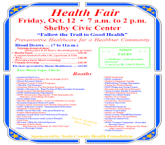 Click Here To View Or Print A PDF Version Of The Health Fair Poster