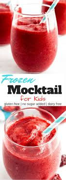 2 Ingredients Make This Frozen Mocktail For Kids Easy Fun And Tasty Gluten