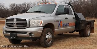 100 2009 Dodge Truck Ram 3500HD Big Horn Edition Quad Cab Flatbed Pick