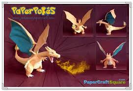 Pokemon Charizard Papercraft