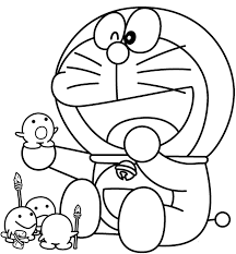 Laughing Doraemon Rofl Coloring Page
