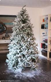 How To Flock An Artificial Christmas Tree Diy Flocked Christmas Tree