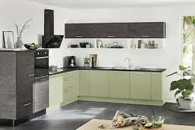 nolte küche artwood eiche geflämmt avocado lack softmatt ebay