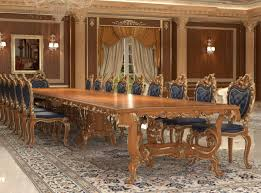 casa padrino luxus barock esstisch braun gold verschiedene größen prunkvoller massivholz esszimmertisch hotel restaurant schloss möbel luxus
