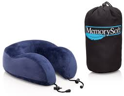Amazon Memory Foam Travel Pillow Neck By MemorySoft With Bag Home Kitchen