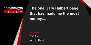The one Gary Halbert page that has made me the most money