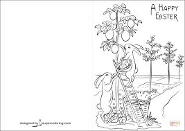 Click The A Happy Easter Card Coloring Pages