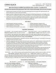 Sample Resume For A Teacher