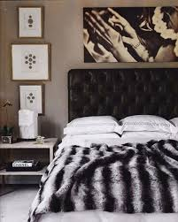 Black Leather Headboard Bed by Interior Fantastic Black And White Bedroom Decoration Using Black