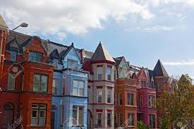 100 Row Houses Architecture Red Brick Row Houses In Washington DC USA Historic Urban Architecture