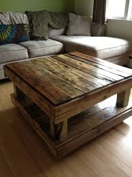 I Dont Know That Would Make It This Tall Though Coffee Table Made From Paint Pallets