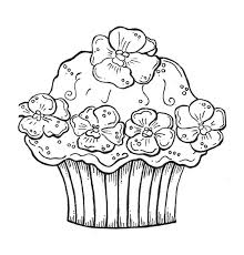 First Rate Printable Cupcake Coloring Pages Birthday 6 Http Cake