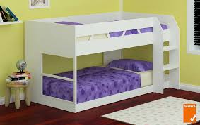 Low Line Single Bunk Bed White