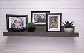 amazon com floating picture ledge rustic wooden picture ledge