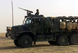 Aboard A Medium Tactical Vehicle Replacement (MTVR) 7.1 Ton Truck ...