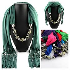 fashion magic luxury neck scarf for women jewelry scarf shawl