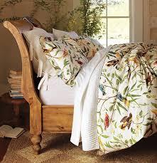 Bird Motif Bedding spring decorating idea from Pottery Barn
