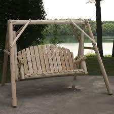 Backyard Creations Cedar Log Swing and A Frame at Menards