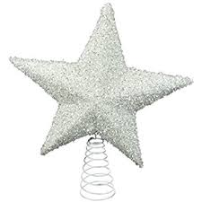 Black Angel Christmas Tree Topper Uk by Black Christmas Tree Top Star Topper Glitter Finish 20cm Amazon