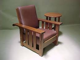 Stickley Furniture Leather Recliner by Voorhees Craftsman Mission Oak Furniture Stickley Brothers