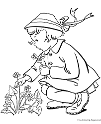 Printable Spring Coloring Sheets