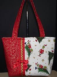 NEW Handmade Large Holiday Grinch Christmas Tree Tote Handbag Purse Diaper Bag