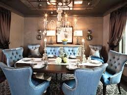 Dining Room Set With Nailhead Trim Cosy Leather Chairs Velvet Tufted Intended For Furniture Luxury Design Using Blue Chair Ideas Grey White Under Small