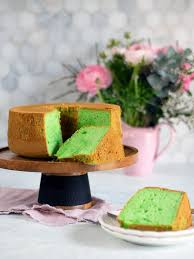 pandan cake light as air and dairy free belly rumbles
